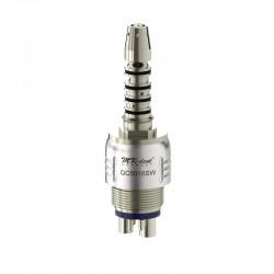 QC5016SW Acoplamiento Quick con luz Xenon y reg. de spray tipo Sirona Click&Go®