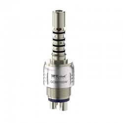 QC6016SW Acoplamiento Quick con luz LED y reg. de spray tipo Sirona Click&Go®