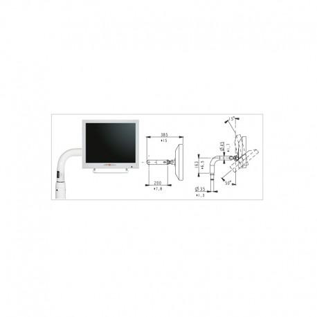 Brazo fijo para monitor 400mm vertical / 200mm horizontal conector VGA
