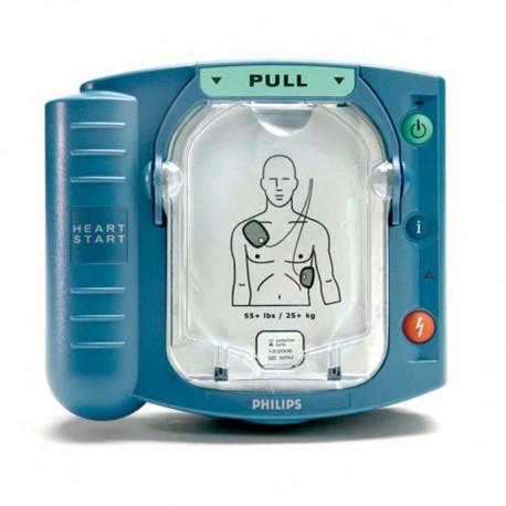 Desfibrilador Externo Semiautomático Philips Heartstart HS1 con electrodos para adultos