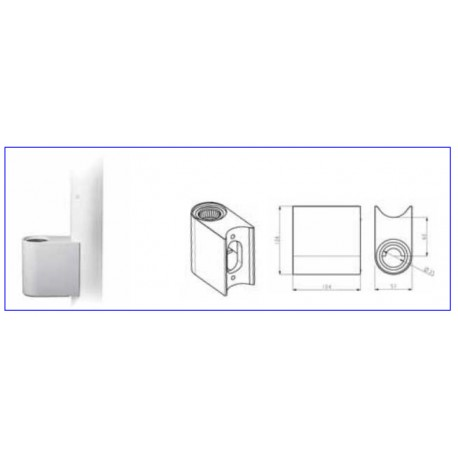 Adaptador de columna 50mm para soporte de monitor o bandeja FARO