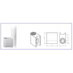 Adaptador de columna 60mm para soporte de monitor o bandeja FARO