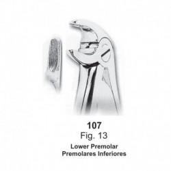 Forceps de extracción (Forma Ingles) Premolares Inferiores. Ref107