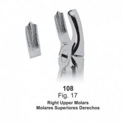 Forceps de extracción (Forma Ingles) Molares superiores derechos. Ref 108