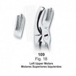 Forceps de extracción (Forma Ingles) Molares superiores izquierdos. Ref 109