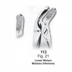 Forceps de extracción (Forma inglesa) Molares inferiores. Ref 113