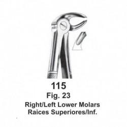 Forceps de extracción (Forma Ingles) Molares inferiores derechos izquierdos