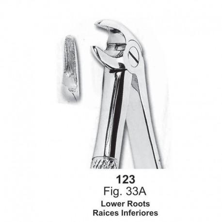 Forceps de extracción (Forma inglesa) Raices inferiores. Ref 123