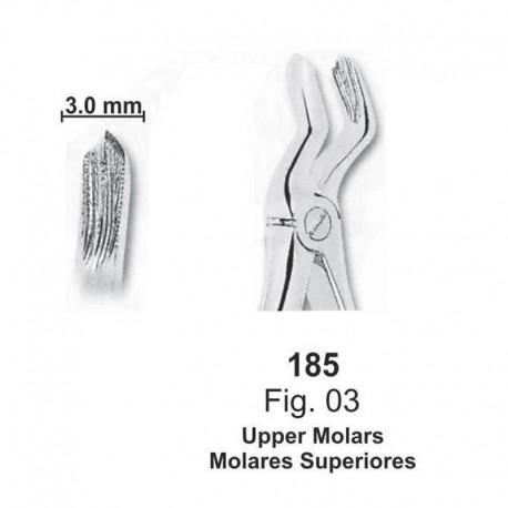 Forceps de extracción (para niños) Molares superiores