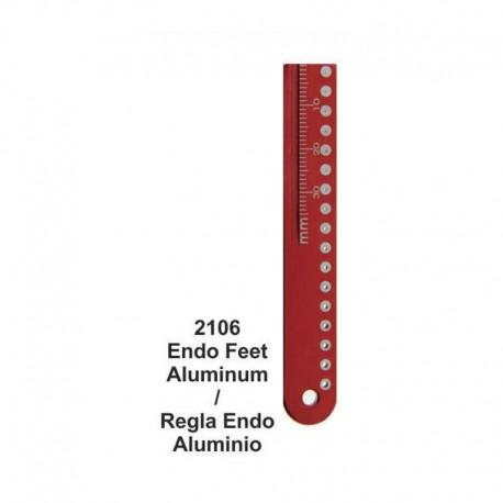 Regla Endo (aluminio) con agujero