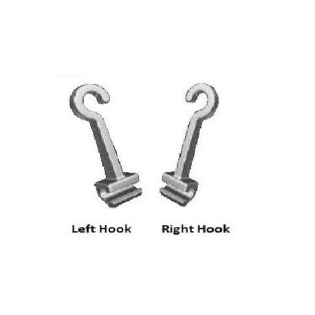 Crimpable hook (izda./left). Bolsa de 10 uds.