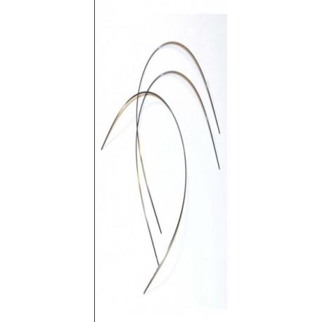 Arco niti superelástico (rectangular) .021x025(sup). Bolsa de 10 uds.