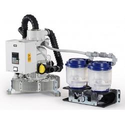 Motor de aspiración Metasys EXCOM Hybrid A5-ECO II TANDEM con separador de amalgama, con unidad de control
