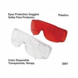 Gafa de protección (naranja) de plástico