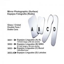 Espejos para fotografía (D) Linguales   (RODIO)