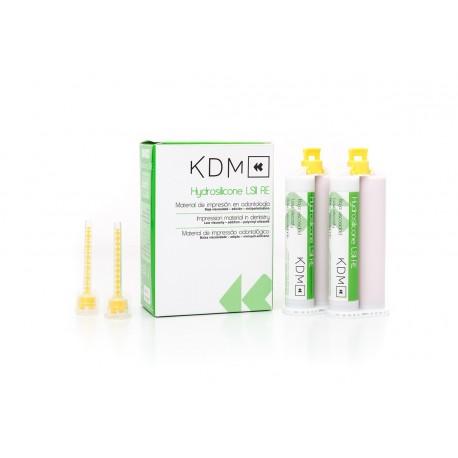 HYDROSILICONE LS II RE KDM 2 x 50ml  (2 bicartuchos de 25ml) + 12 puntas
