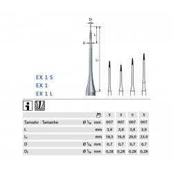 ENDOEXPLORER KOMET EX1.204.007 p/prep endodóntica 5 ud
