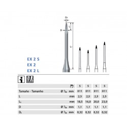 ENDOEXPLORER KOMET EX2L.204.011 p/prep endodóntica 5 ud