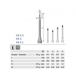 ENDOEXPLORER KOMET EX2.204.011 p/prep endodóntica 5 ud