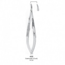 Porta aguja Castroviejo curva 14 cm