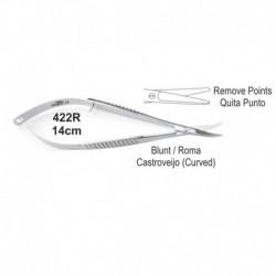 Tijeras Castroviejo 14cm punta roma (quita puntos)