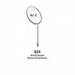 Espejos Rosca Americano  NR .5  plano 12 unid