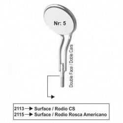 Espejos Nr 5 (RODIO)doble cara (rosca fina/americana) cada u