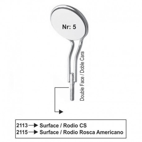 Espejos Nr 5 (RODIO) doble cara (rosca fina/americana) cada unidad