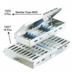 Caja de Esterilizar (inox y silicona) 10 instrumentos