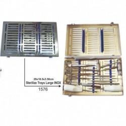 Caja de Esterilizar (inox y silicona) grande