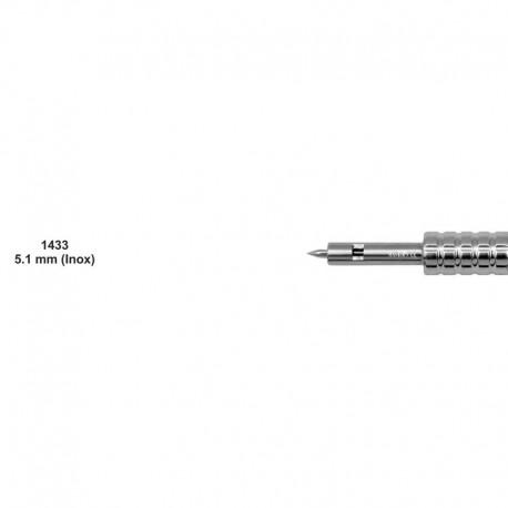 Bisturí manual acero inoxidable 5.1mm